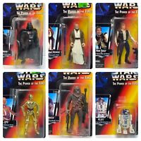 (Loose, 100% Complete) 1995 Kenner The Power of the Force Star Wars 6 Figure Lot