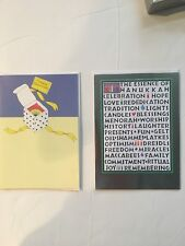 Lot of 14 Hanukkah Cards from  Recycled Paper Greeting Cards (Two Designs)