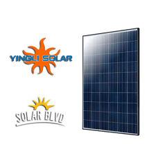 Yingli Solar 245 W Watt 24V 245P-29b UL Black Frame Poly 60 Cell PV Solar Panel
