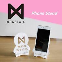 Kpop Monsta X Logo Wood Portable Stand Holder Bracket for Mobile Phone Tablet