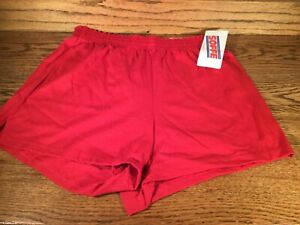SOFFE Ladies Juniors Athletic CHEER shorts RED NEW WITH TAGS SZ. MEDIUM