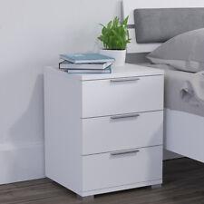 Comodino con cassetti per camera da letto in rovere bianco