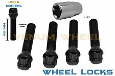 5 Pc 45mm 12x1.5 Extended Locking Lug bolts W/ Key Fits BMW Mercedes Benz