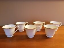 Royal Doulton Gold Concord H5049 (6) Footed Teacups - Great Condition & Price!