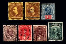 Sarawak #2-#113 1871-1932 Small Lot Mint & Used 7 items