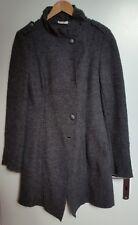 promod military mantel gewalkte Wolle Gr. 36/38, Damenmantel, grau