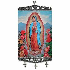 "Our Lady of Guadalupe Large Size Tapestry Icon Banner w/ Crosses 17""x8"""