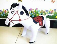 60cm White Horse Inflatable Decoration Blow up Toy Kids Birthday Party Supply