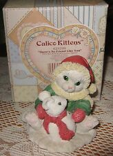 Calico Kittens 1997 by Enesco-There's No Friend Like You- Nib- Retired
