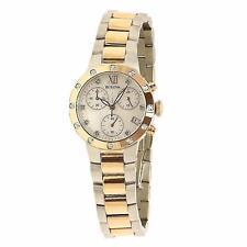 Bulova Women's 98R210 Diamonds Analog Display Japanese Quartz Two Tone Watch