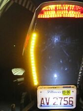 Universal Amber LED Motorcycle Turn Signals Flexible Strip Slim Flush Flex Light