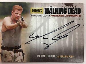 Walking Dead Season 4 PART 2 - STANDARD Michael Cudlitz - Abraham AUTOGRAPH MC2