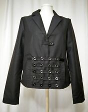 BNWT New Black Alexo Jacket Alternative Fashion With Bows And Buttons Size 36