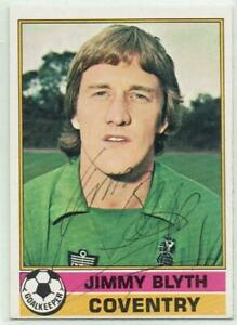 Jimmy Blyth signed 1977 / 1978 Topps Red Backs card #98 Coventry City
