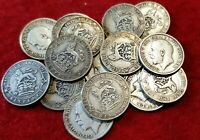 1911-1919 LUCKY STERLING SILVER SIXPENCES GEORGE V CHOICE OF YEAR CLEAR DATE