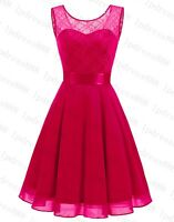 Formal Short Prom Lace Party Evening Bridesmaid Cocktail Dresses 6-18