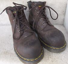 Dr. Martens Steel Safety Toe Industrial Boots Brown Sz 7 Men 8 Women ASTM F2413