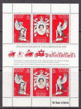 1978 Solomon Islands 25th Anniv of Coronation of Queen Elizabeth II mint minishe