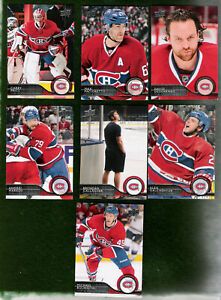 2014-15 UPPER DECK MONTREAL CANADIENS TEAM SET!! NEAR MINT TO MINT!!