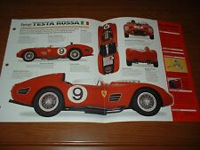 1959 FERRARI TESTA ROSSA 250TR SPECS BROCHURE INFO 250 TR LE MANS 56 57 58 59-61