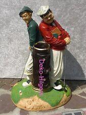 Wunderschöne Figur Groß  LAUREL HARDY DICK DOOF Golf Spieler Deko  Werbefigur