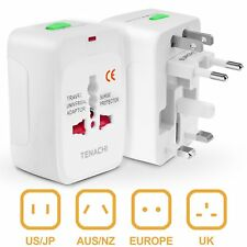 Universal Travel Plug Power Adapter TENACHI Built-in Surge Protector All in One