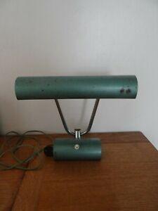 Belle Lampe de Bureau Tôle Peinte Verte Industrielle Vintage 1950 Jielde Jumo