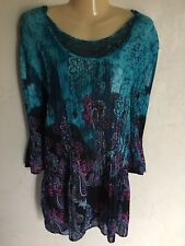 Catherines WOMENS BLOUSE SHIRT TOP SZ 3X Stunning Embellished