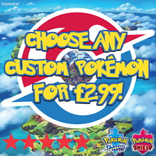 Pokemon Sword & Shield - Choose any custom Pokemon - 6IV - EV - NATURE - LEVEL