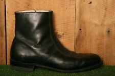 EXECUTIVE IMPERIAL Black Leather Apron Toe Side Zip Ankle Beatle Boots Men's 13D