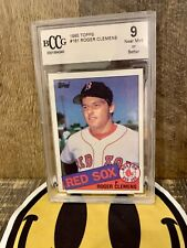 1985 Topps #181🔥Roger Clemens🔥Boston Red Sox 🔥RC Rookie🔥BCCG 9