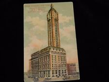 Vintage Postcard,NEW YORK CITY, NY,Singer Building,Tallest In World,To Nashua,NH
