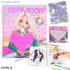 TOP Model Colouring Book With Sequin Heart Depesche Sent First Class Post