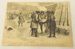 1884 magazine engraving ~ 1855 Gordon In The Crimea