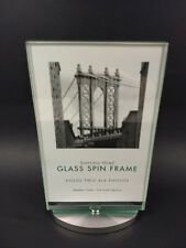 "NEW 4""x6"" Sheffield Home Glass Spin Frame Family Tabletop Photos Album Pictures"