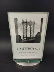 """Spin Frame Photos Album Pictures NEW 4""""x6"""" Sheffield Home Glass Family Tabletop"""