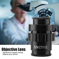 1/2 CTV C-Mount Objective Lens Adapter for SZM Trinocular Stereo Microscope DY9