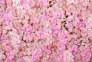 Photography Background Props 3x2FT Vinyl Photo Backdrop Pink Bright Flowers