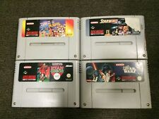 Super Nintendo SNES Game Bundle x4 - Tetris & Dr Mario, Starwing, Star Wars etc