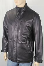 Roundtree & Yorke Black Lambskin Leather Jacket Coat NWT $495