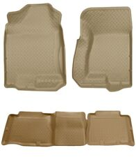 Husky Tan Classic Front & 2nd Row Floor Liners for 00-06 Tahoe / Yukon & More