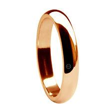 Anelli di metalli preziosi senza pietre in oro rosa matrimonio