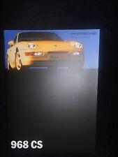 Prospekt sales brochure Porsche 968 CS datos técnicos equipamiento deportivo