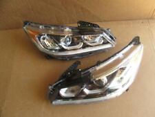 OEM 16-17 Honda Accord LH Driver & RH Passenger Side Headlights Headlight Lamps