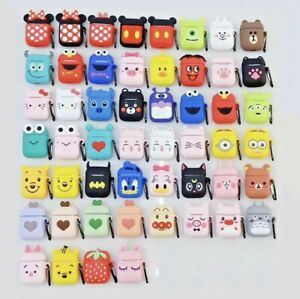 Cute 3D Cartoon Silicone Protective Cover for Apple AirPods 1 & 2 Charging Case