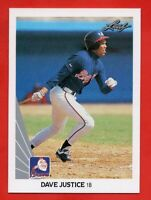 1990 Leaf #297 Dave Justice ROOKIE RC MINT Atlanta Braves FREE SHIPPING