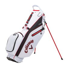 Callaway Fairway C Double Strap  Stand Golf Bag - White/Black/Red - New 2021