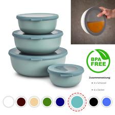 MEPAL CIRQULA Schüssel Set mit DECKEL Dosen Vorratsdosen Kunststoff BPA FREI Neu