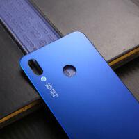 Huawei P20 Lite Cover Copertina Retro Batteria Copertura Posteriore Vetro Blu