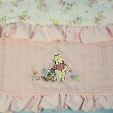 Disney Winnie the Pooh Roo Baby Blanket Pink Satin Ruffle Comforter Quilt 28x30